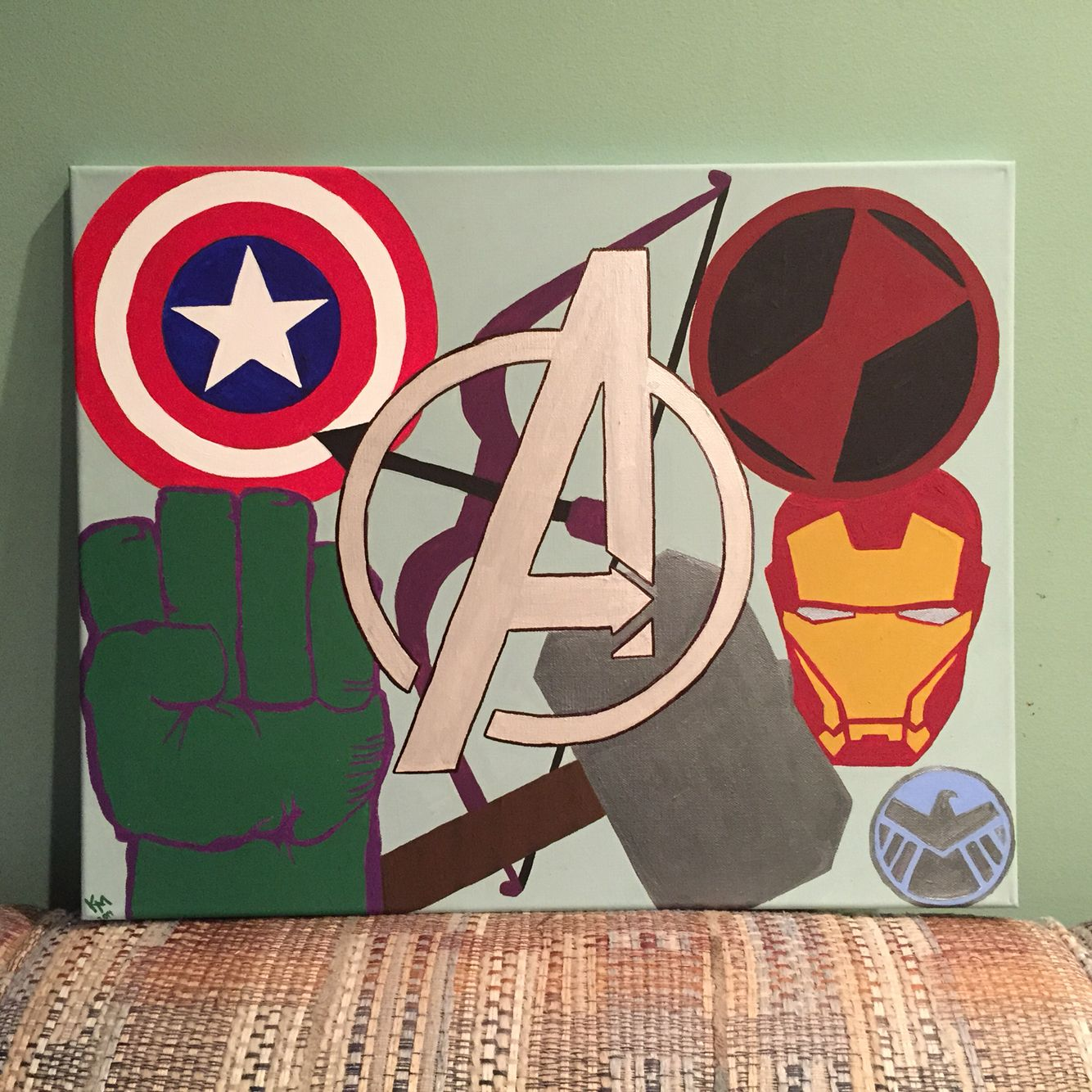 Avengers canvas painting