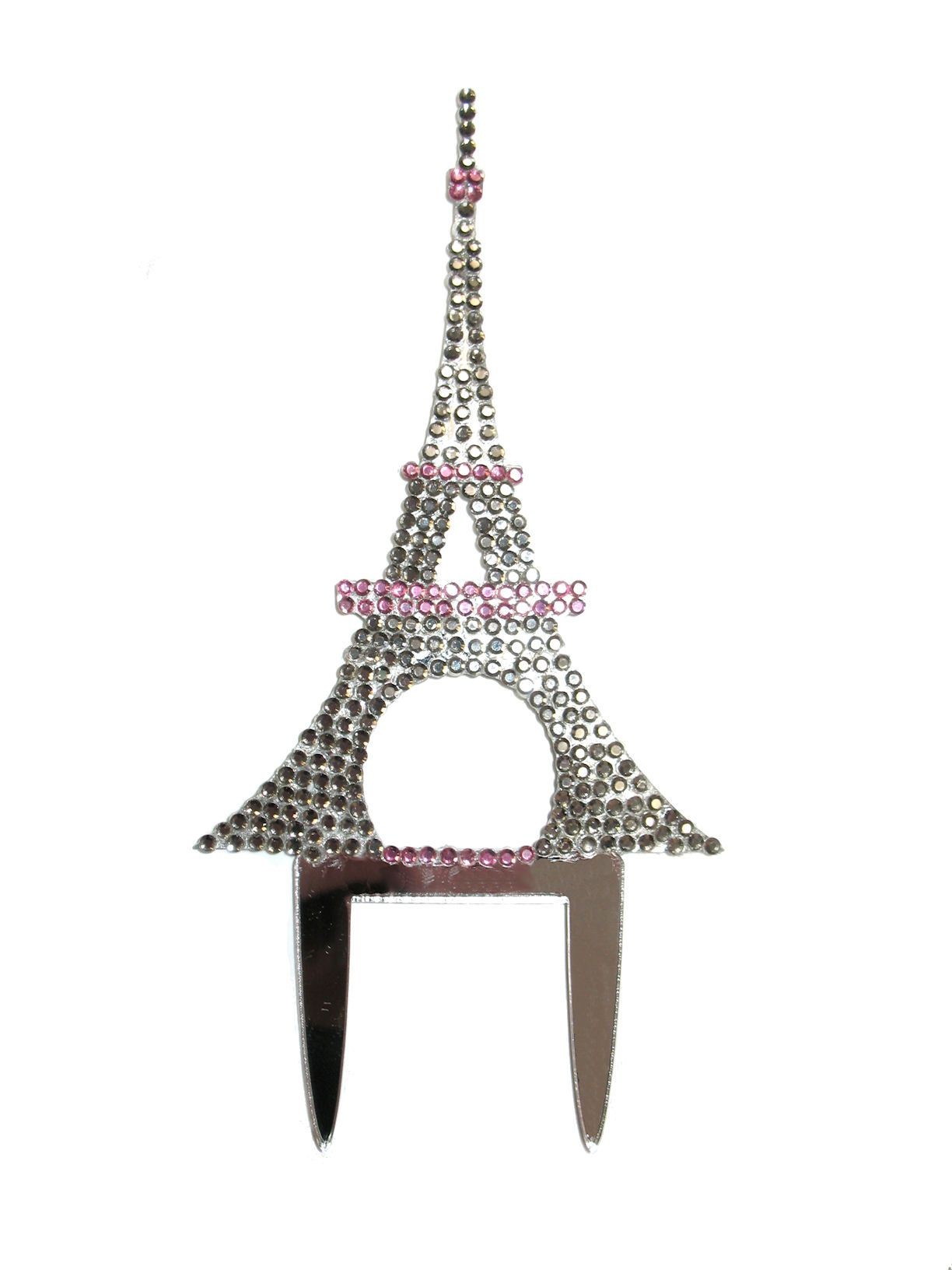 Crystal Covered Eiffel Tower Cake Topper 6995 Paris party ideas