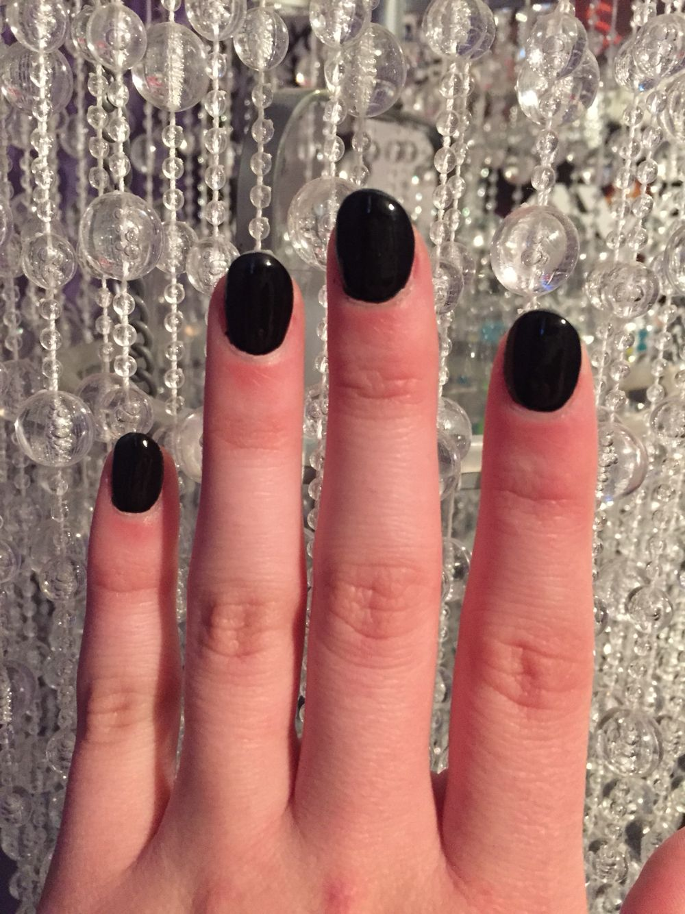 Black Round Acrylic Nails Rounded Acrylic Nails Black Acrylic Nails Acrylic Nails