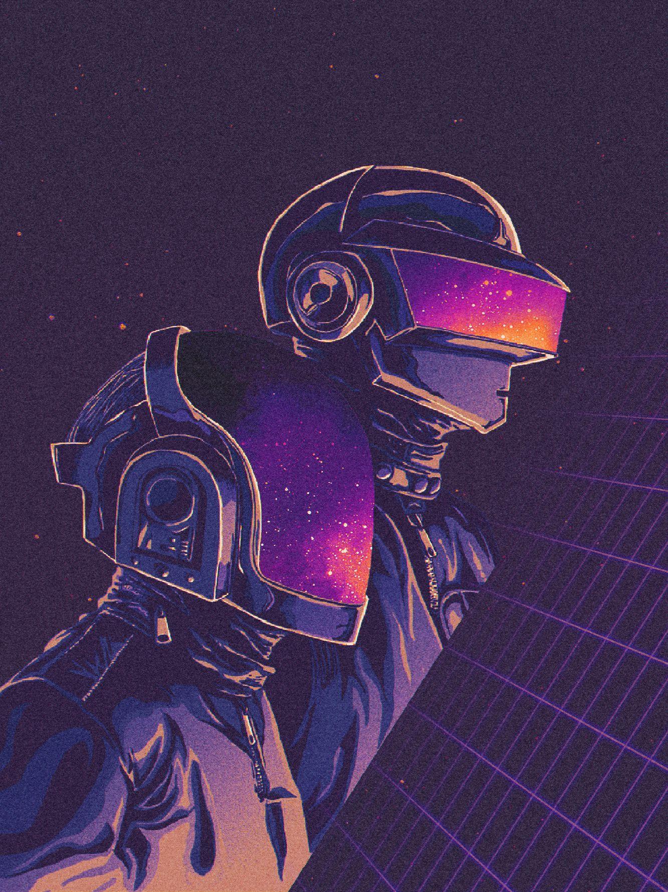 Daft Punk About Space Odyssey Pixel Lime Daft Punk Poster Retro Art Daft Punk