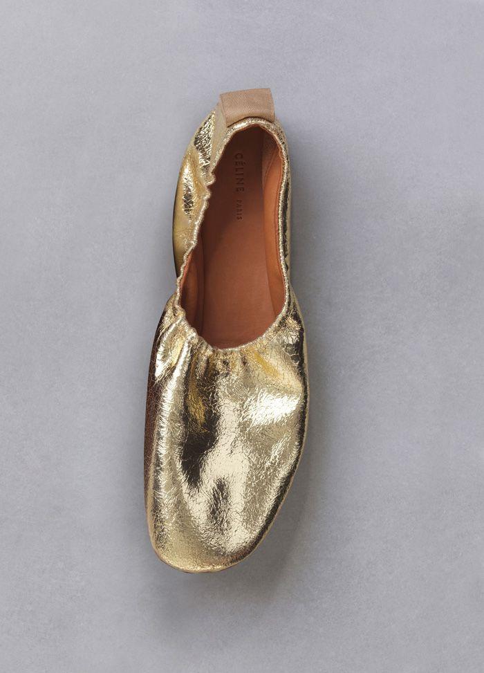 41d5183a770c celine ballerina gold