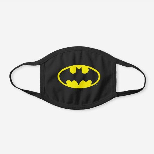 Batman Symbol Bat Oval Logo Black Cotton Face Mask Zazzle Com Oval Logo Face Mask Mask