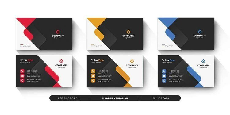 تحميل بطاقات عمل جاهزة Psd مجانا Business Cards Creative Business Card Template Psd Business Card Psd