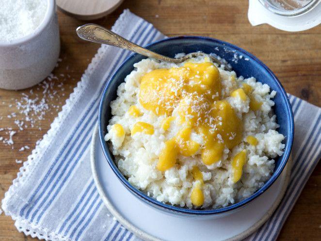 urlaubshunger kokosmilchreis mit mango bananenp ree rezept essen. Black Bedroom Furniture Sets. Home Design Ideas