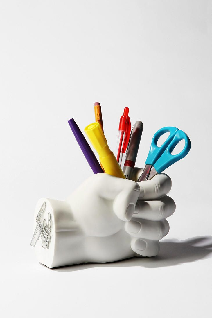 fun office accessories. Hand Pen Holder #UrbanOutfitters Fun Office Accessories L
