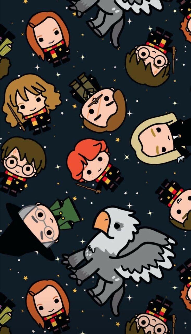 Harry Potter Wallpaper Harry Potter Cartoon Harry Potter Stickers