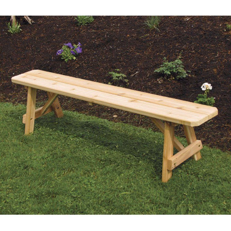 Outdoor A L Furniture Western Red Cedar Traditional Backless Bench Oak Stain 156c Oak Stain Traditional Benches Red Cedar Red Cedar Wood