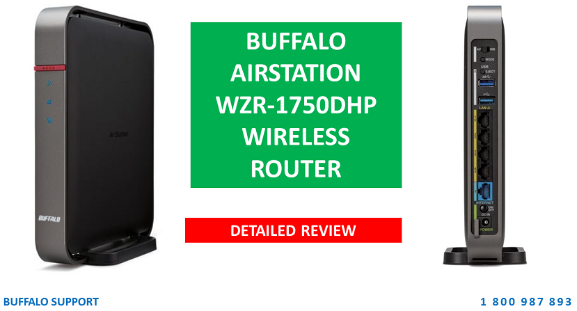 Buffalo AirStation WZR1750DHP Wireless Router Detailed