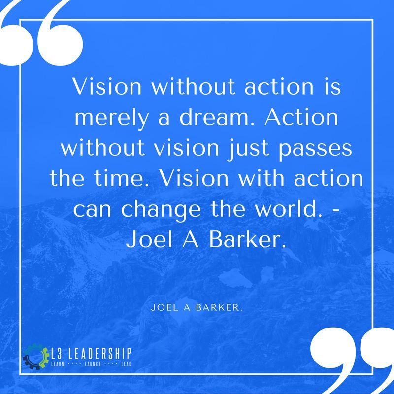 Vision without action is merely a dream. Action without
