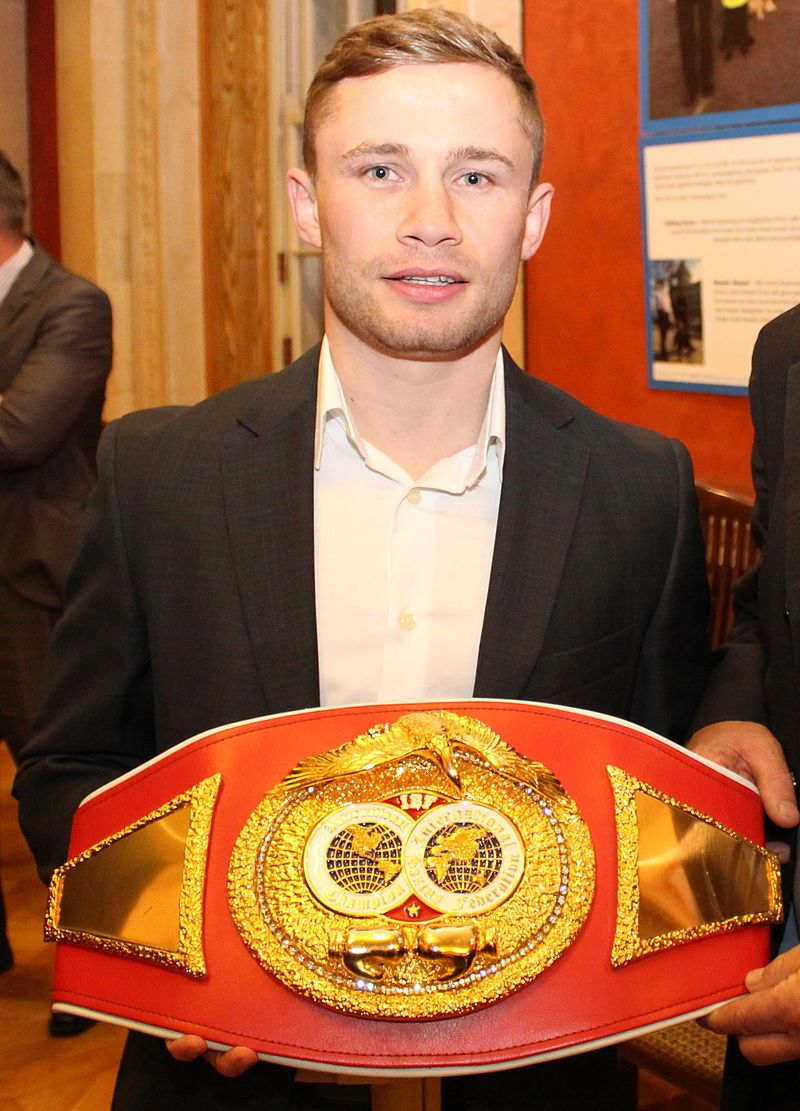 Carl Frampton, MBE (born 21 February 1987) is a professional boxer from Northern Ireland. He is a former unified WBA (Super) and IBF super-bantamweight champion