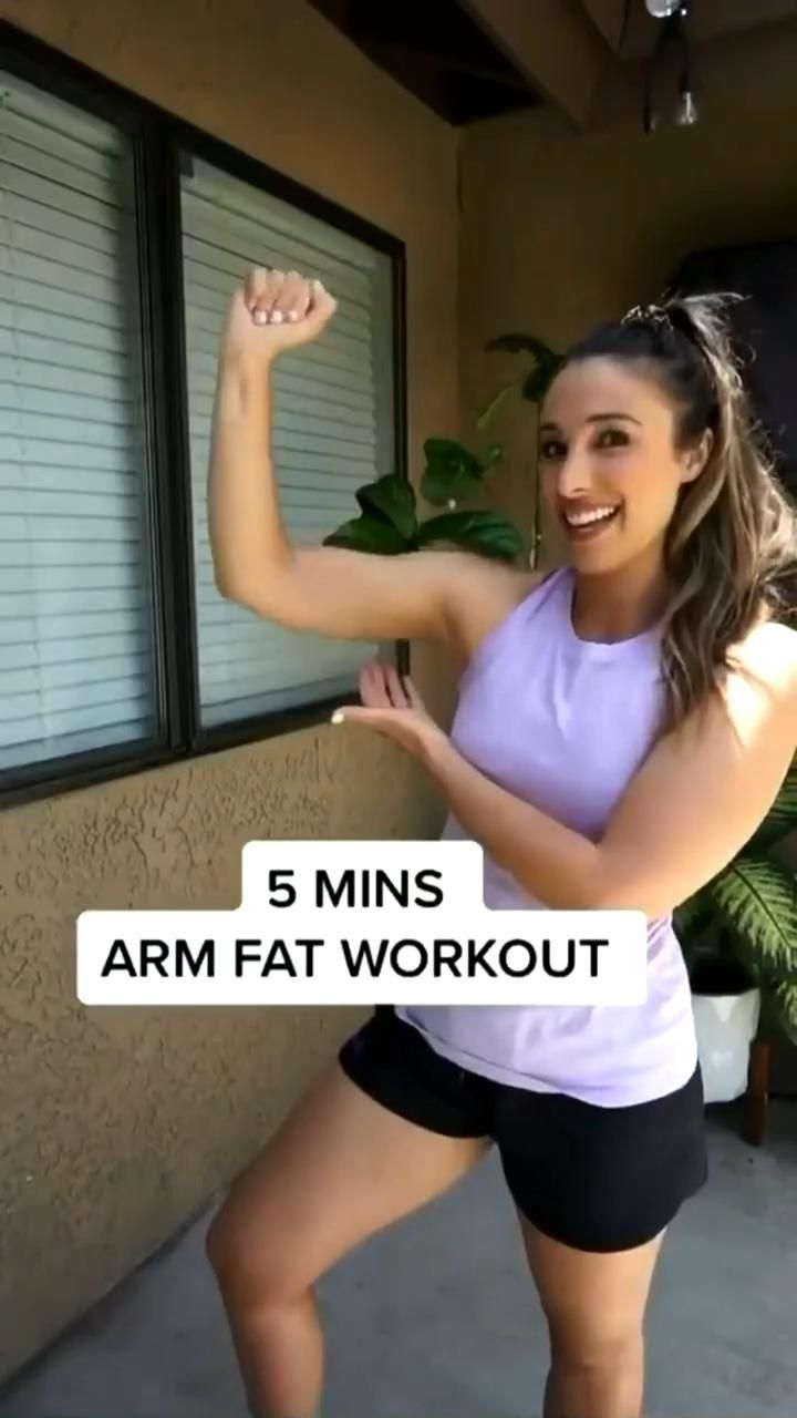 5 min Arm fat exercises with dumbells