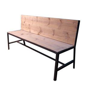 Banco de estilo industrial en hierro y madera mesas y - Bancos estilo vintage ...