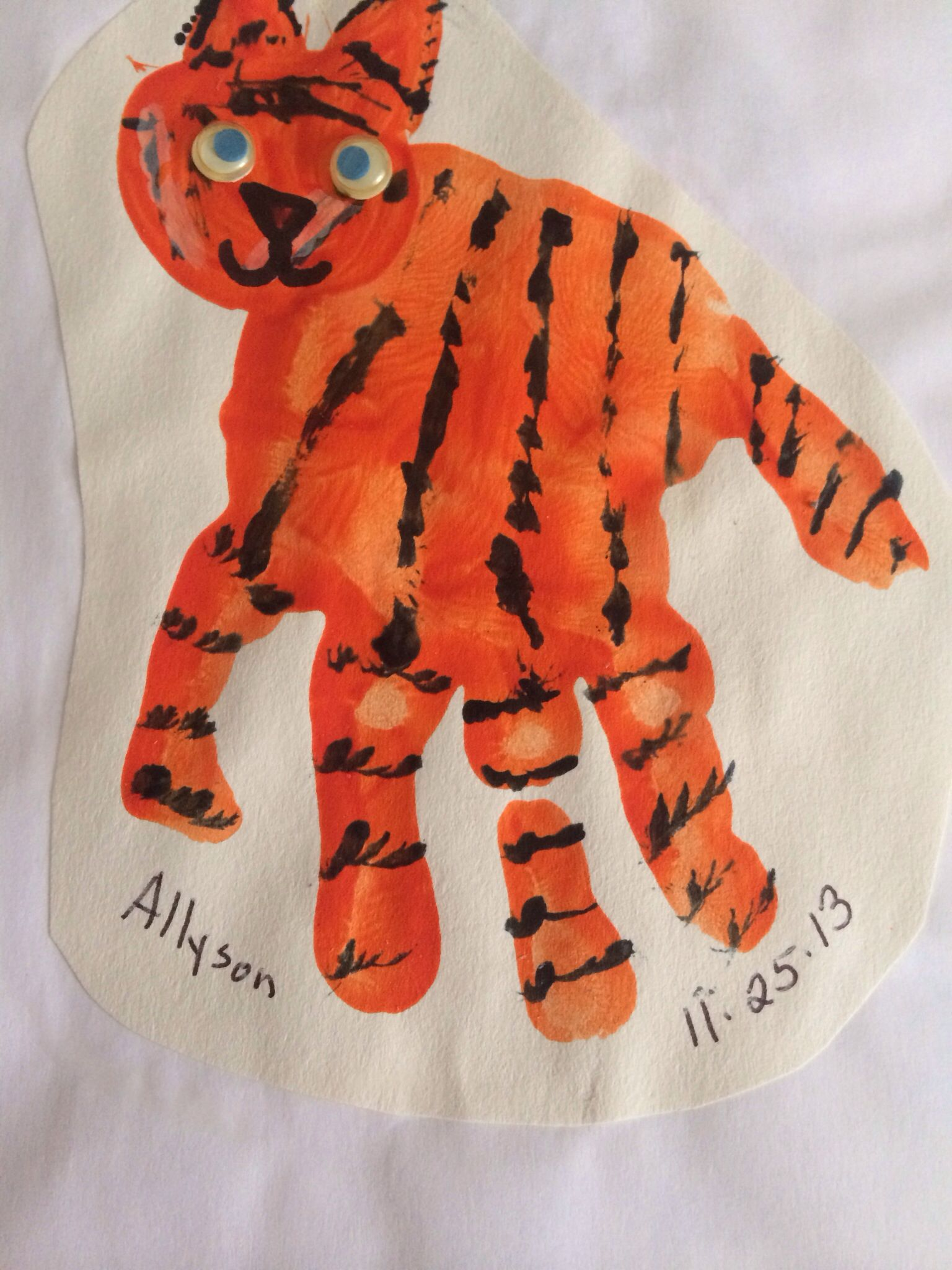 T Is For Tiger Handprint