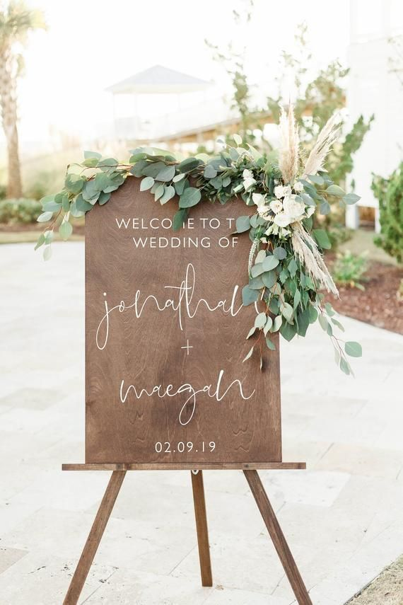 Welcome Sign Wedding Signage | Rustic Welcome Sign for Wedding | Wooden Welcome Wedding Sign | Etsy Wedding Welcome Sign - WS-271