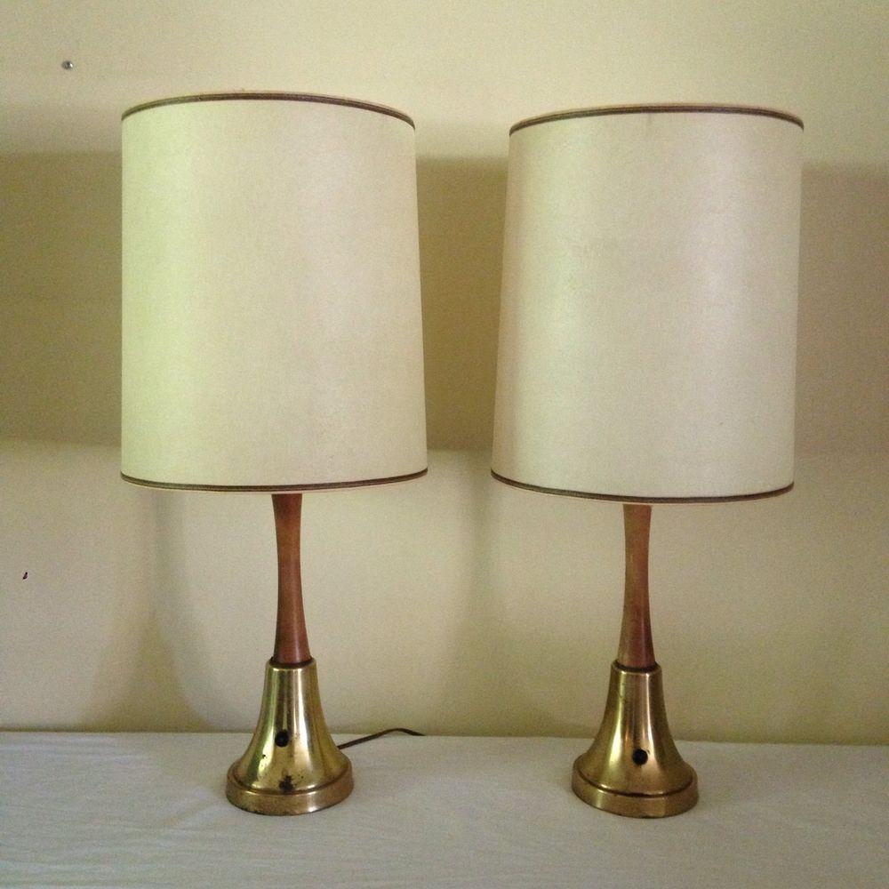 modern lighting shades. Original Vintage Pair Mid Century Modern Danish Lamps \u0026 Fiberglass Shades Lighting