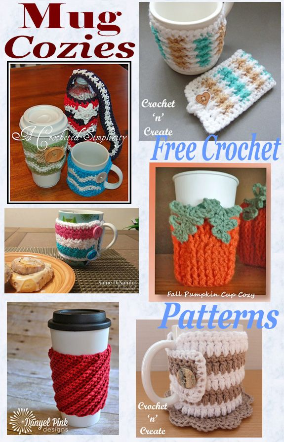 Free Crochet Pattern Roundup-Mug Cozies | Cre8tion Crochet Community ...