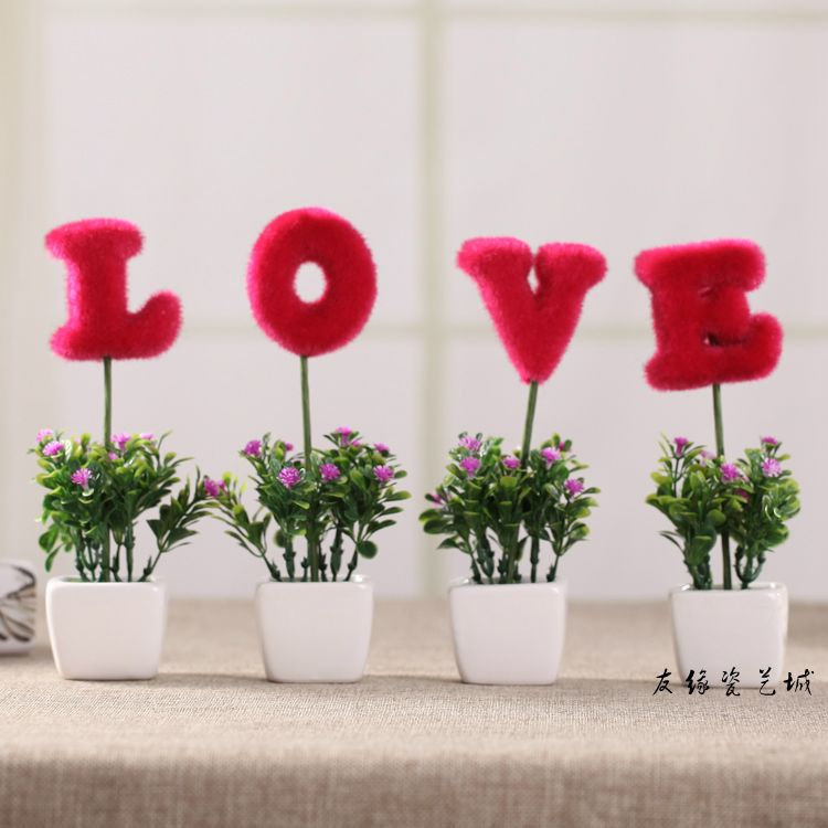 Love Artificial Flowers For Decoration Living Room Cabinet Tv