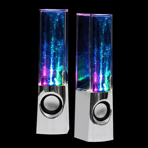 Water Dancing Speakers Chrome by Leading Edge Novelty Unique Home