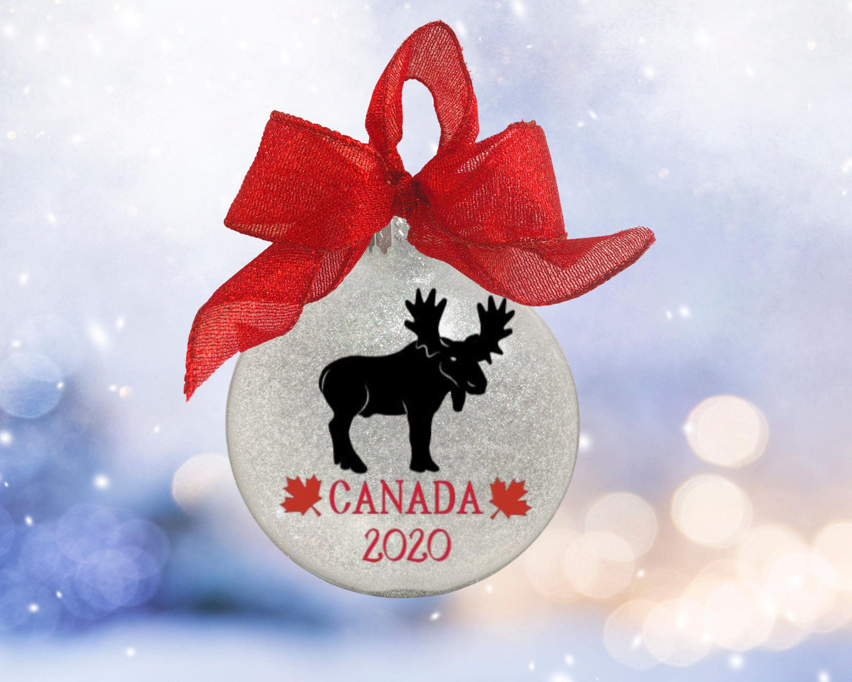 Canada Personalized Christmas Ornament Canada Christmas Etsy In 2020 Personalized Christmas Ornaments Christmas Ornaments Family Ornament