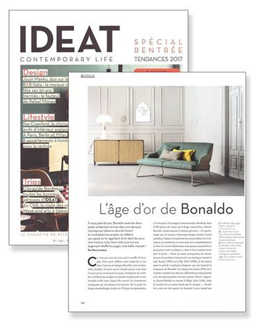"""""""L'età d'oro di Bonaldo"""" Focus speciale su #Bonaldo in IDEAT Magazine. #bonaldo80 #design #press"""
