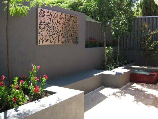 Outdoor Wall Art Brick Wall Decor Backyard Fence Decor Garden Wall Decor