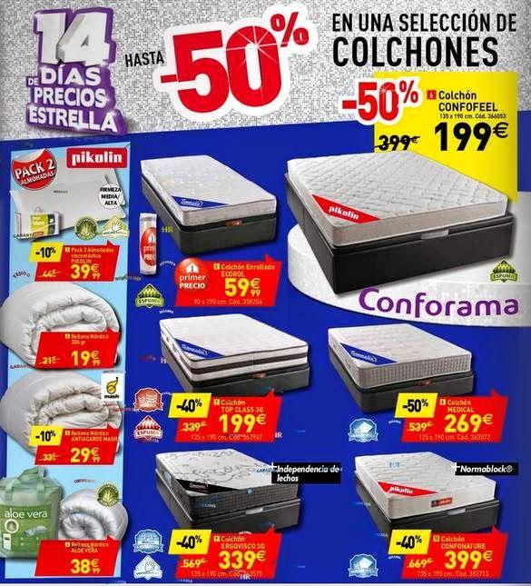 #Ofertas de Colchones en #ConformaEspaña hasta el 29-10 2014
