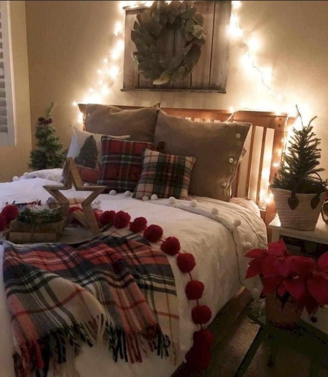 50++ Bedroom christmas room decor information