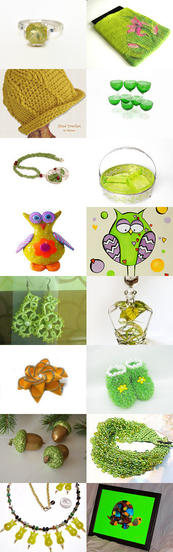 FlorenceJewelshop presents: the beautiful yellow line between the green by Florence on Etsy--Pinned with TreasuryPin.com