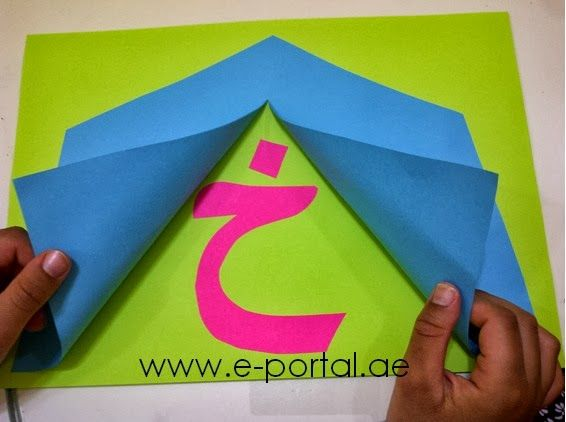 اعمال يدوية لحروف الهجاء روضة العلم للاطفال Letter A Crafts Arabic Alphabet For Kids Montessori Art