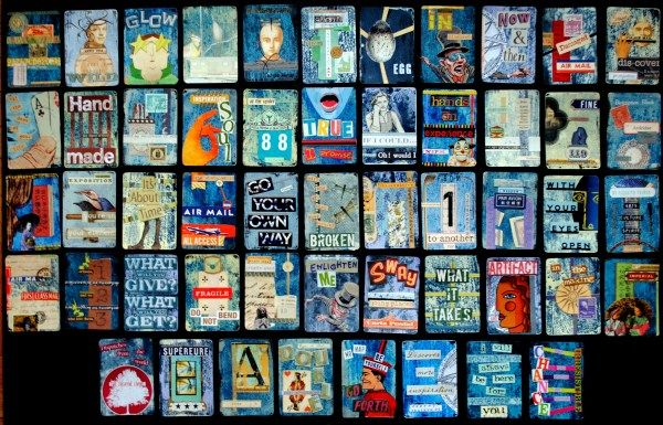 Seth Apter's 52 Card Pick Up: Memories & Shadow. A one-of-a-kind, mixed media journal documenting one year, week by week.