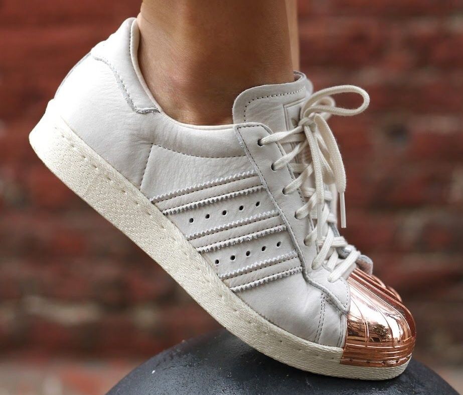adidas superstar rose gold sneakers