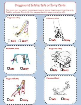 Playground Health and Safety Task Cards | Playground ...