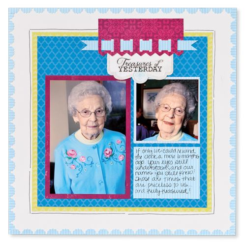 Border Maker Heritage Birthday Scrapbook Layout Idea - things to do with stupid picket fence