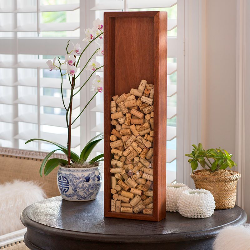 Cherry wine cork frame, tall and skinny