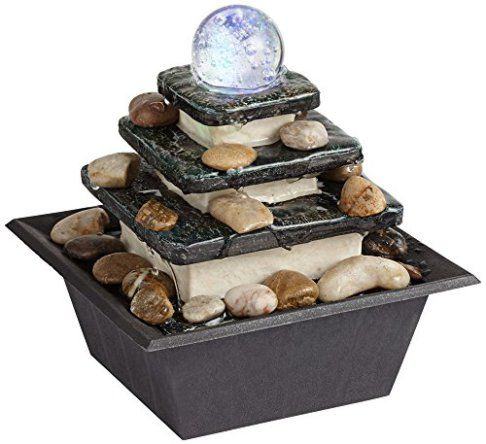 Rolling Ball Three Tier Tabletop Zen Fountain. Tabletop Fountains ...