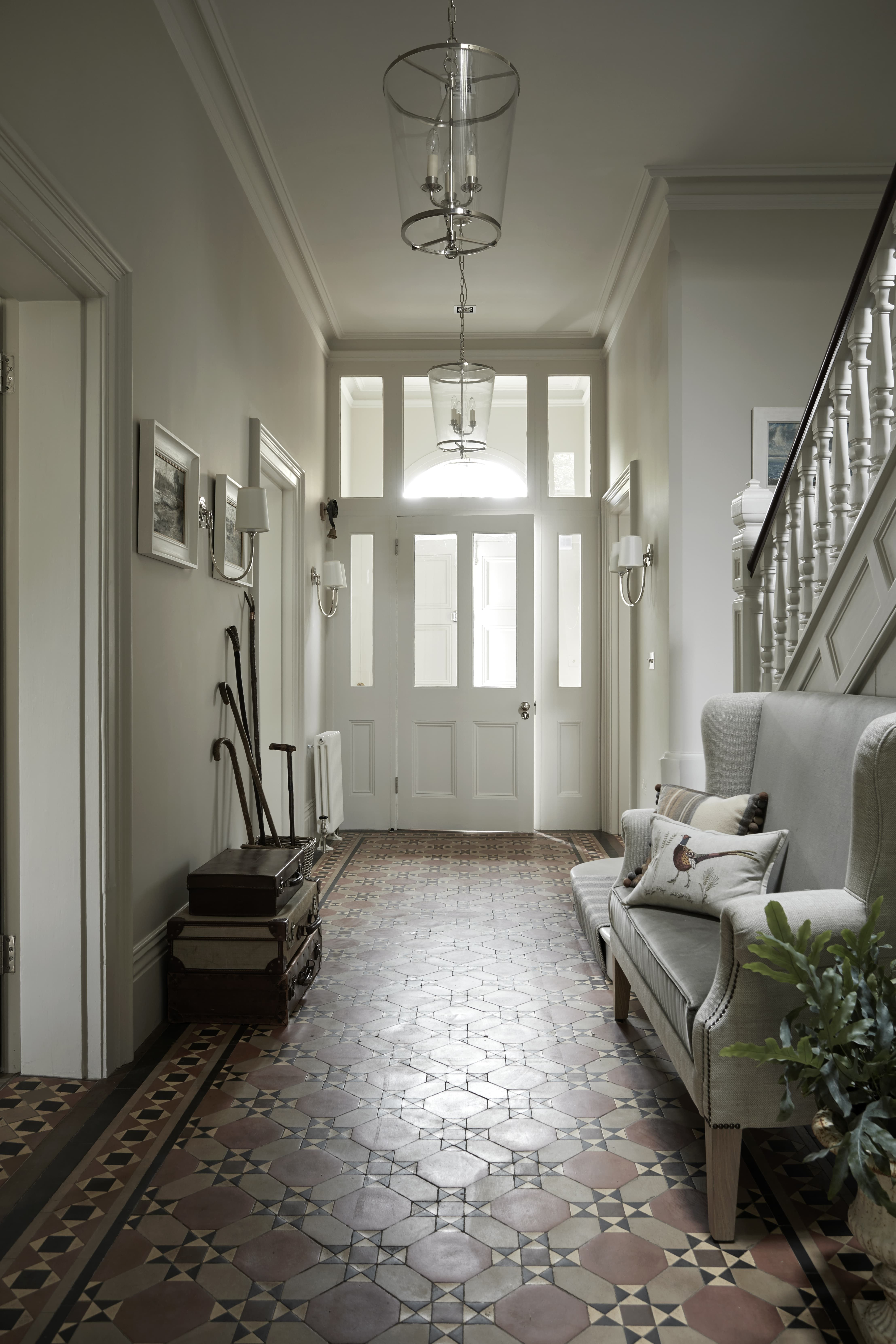 Entrance Hall designed by Sims Hilditch for Malvern Family Home