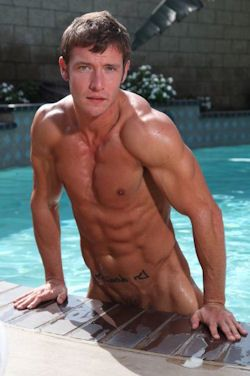 Kevin Crows Nude Coming Out Of Pool