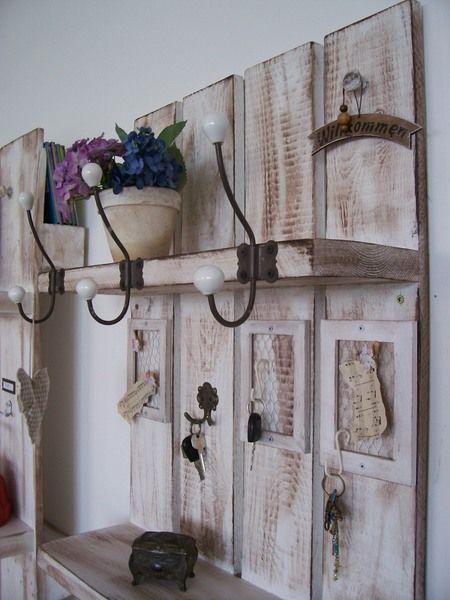 "Shabby Style Garderobe universal-shabby-garderobe* von atelier-nr13 "" villa-klippenscheune"
