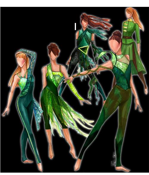 Creative Custuming Designs Color Guard Costumes Color Guard Uniforms Creative Costuming Designs