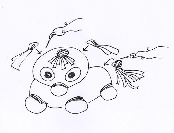 nähen kinder kuscheltier  kleine ichbinich basteln