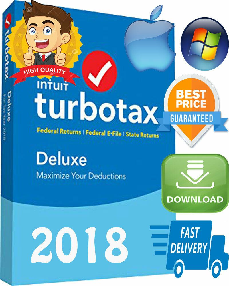 Software 40134: Intuit Turbotax Deluxe 2018 Federal