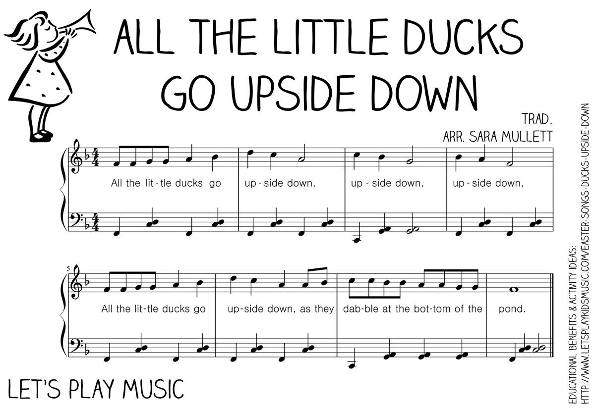 All The Little Ducks Go Upside Down Action Song