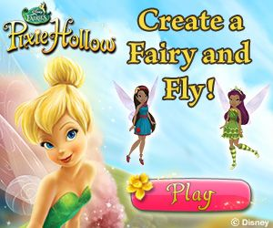 pixie hollow is an on line world where its free to create a fairy or kids games - Disney Free Kids Games
