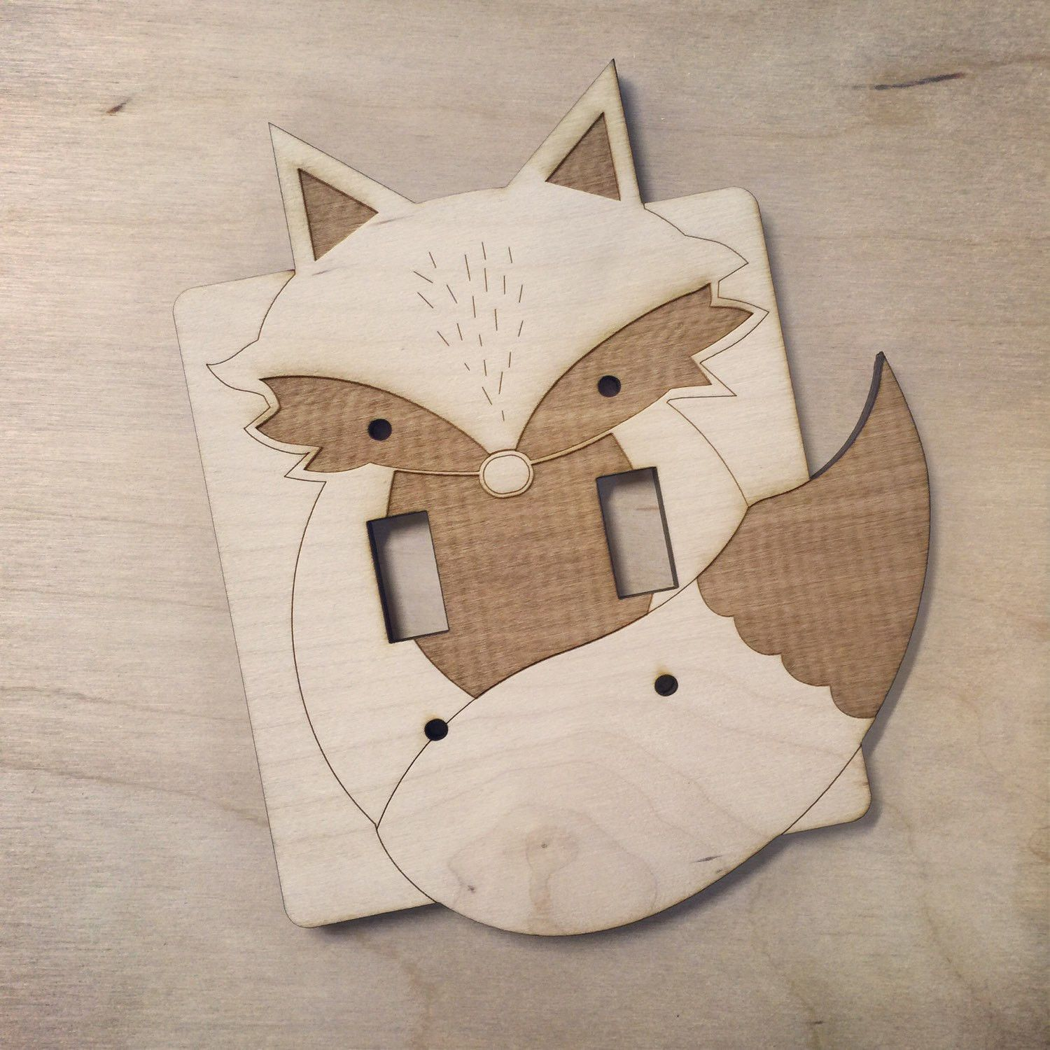 MADE TO ORDER /// Allow One Week Each wooden light switch plate is ...