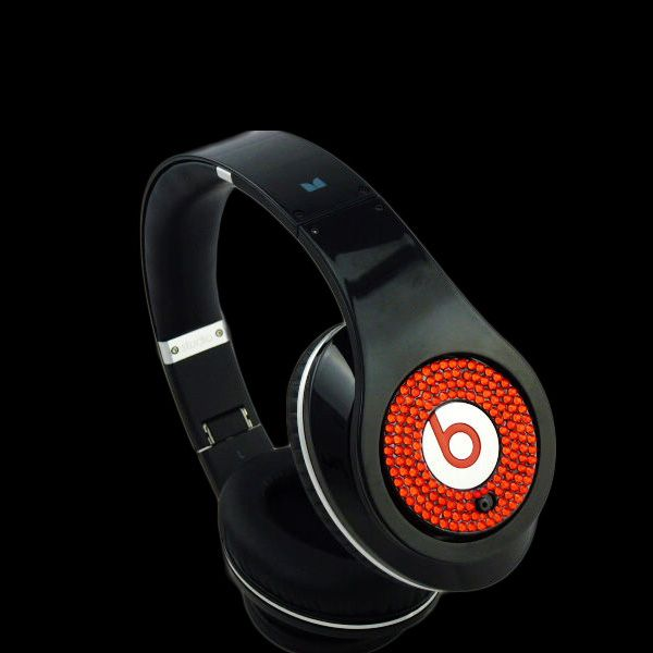 2012 Monster Beats By Dr Dre Diamond Black With Red Studio Headphones Monster Headphones Studio Headphones Headphones
