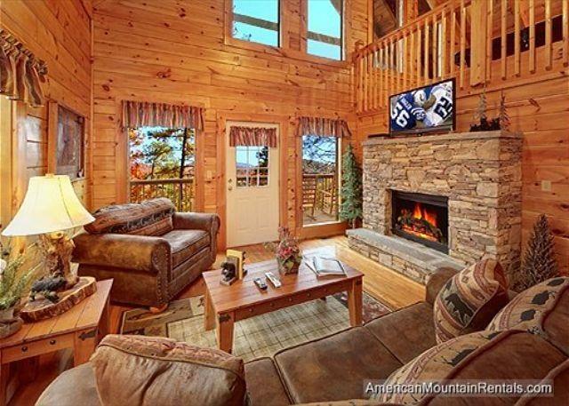 Log Cabin Bedroom With Fireplace Gatlinburg Cabin Rental Cozy
