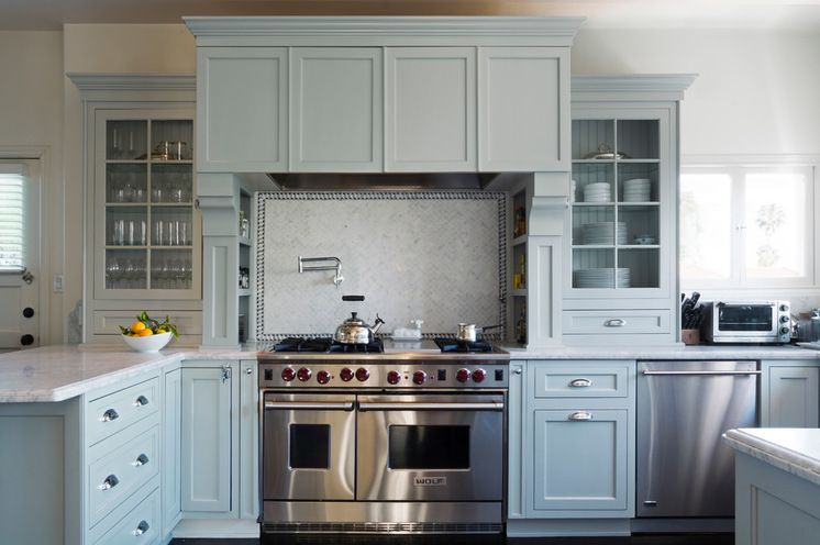 Painting Your Kitchen Cabinets Is No Small Undertaking: Cabinet Paint: Parma Gray, No. 27, Farrow & Ball