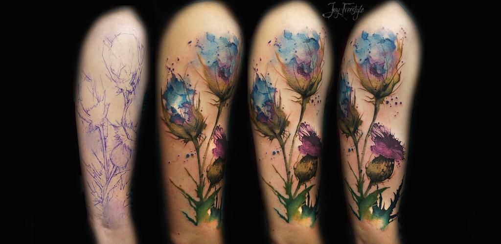 36 Beautiful Watercolor Tattoos From The World S Finest Tattoo Artists Watercolor Poppy Tattoo
