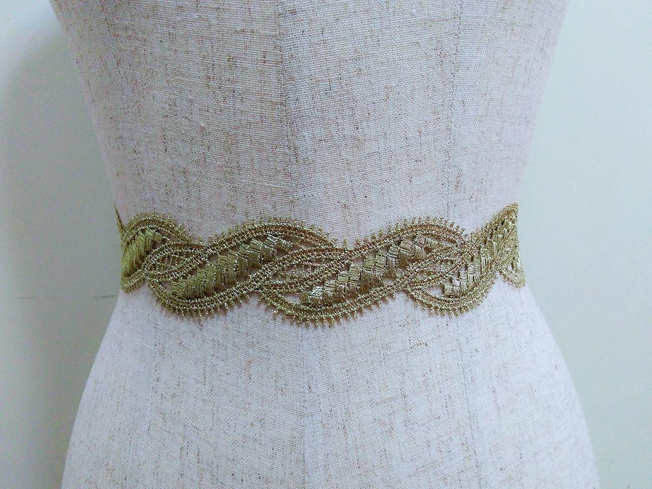 Gold lace belt, Golden bridal sash, Wedding dress sash, Bridal gown ...
