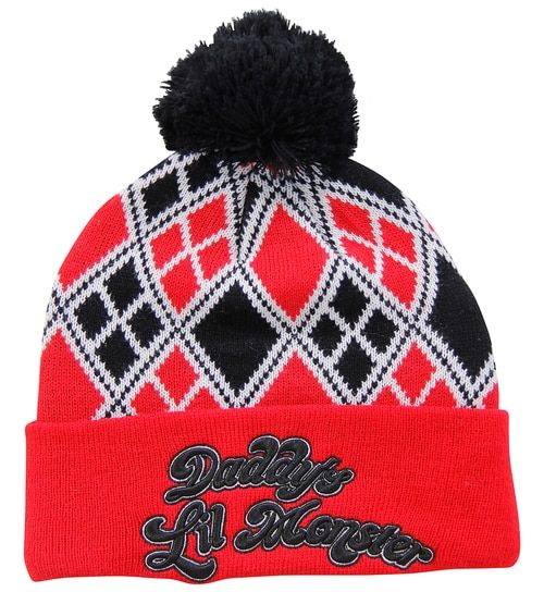 b8024be10c9 Adult Harley Quinn Daddy s Lil Monster Pom Beanie